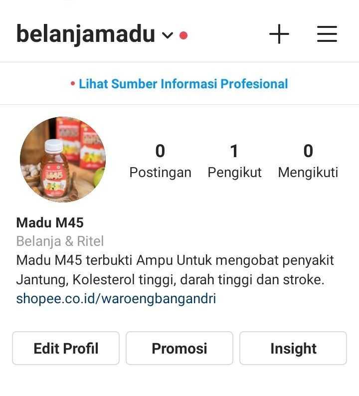 cara menambahkan link shopee di profil instagram