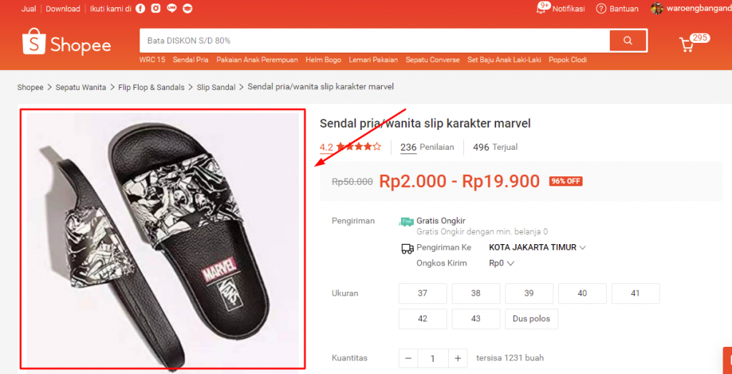 cara download gambar di shopee melalui laptop / pc